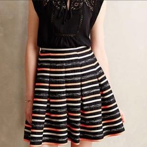 Anthropologie Ribboned Striped Skirt HD in Paris